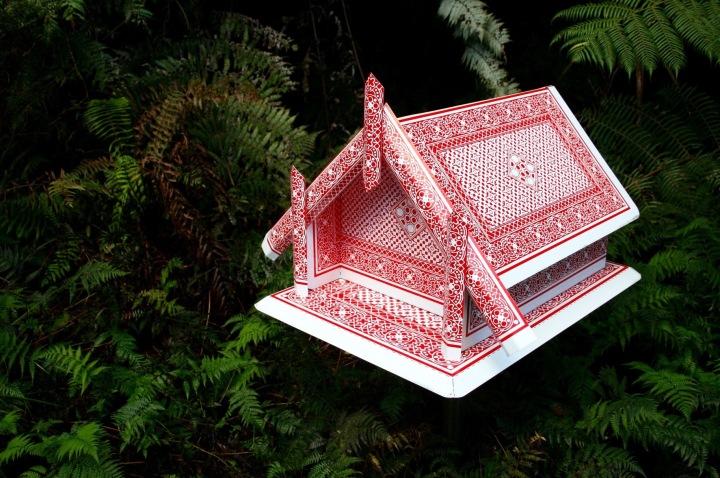 Whare by Neil Dawson, June 2010 at Brick Bay Sculpture Trail, Matakana, New Zealand