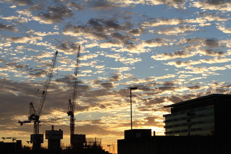 Stunning winter sunrise in Brisbane
