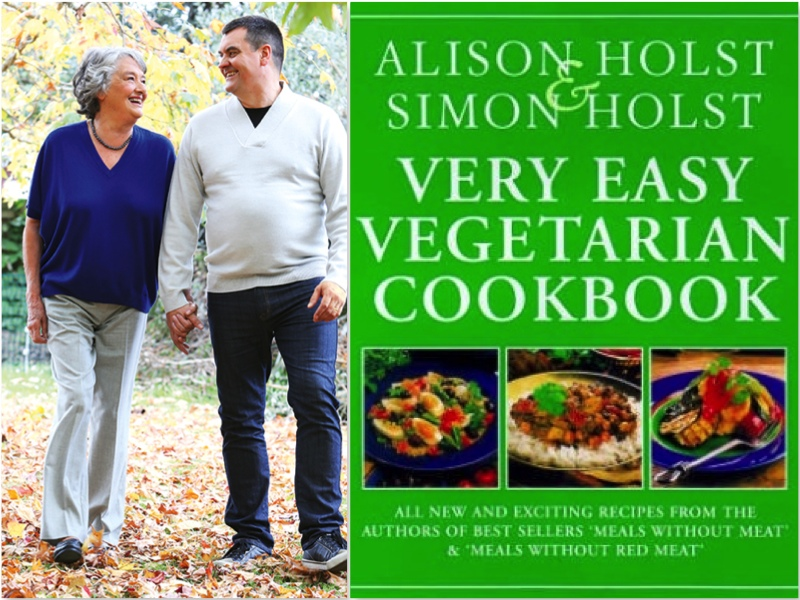 Alison and Simon Holst and their book Very Easy Vegetarian