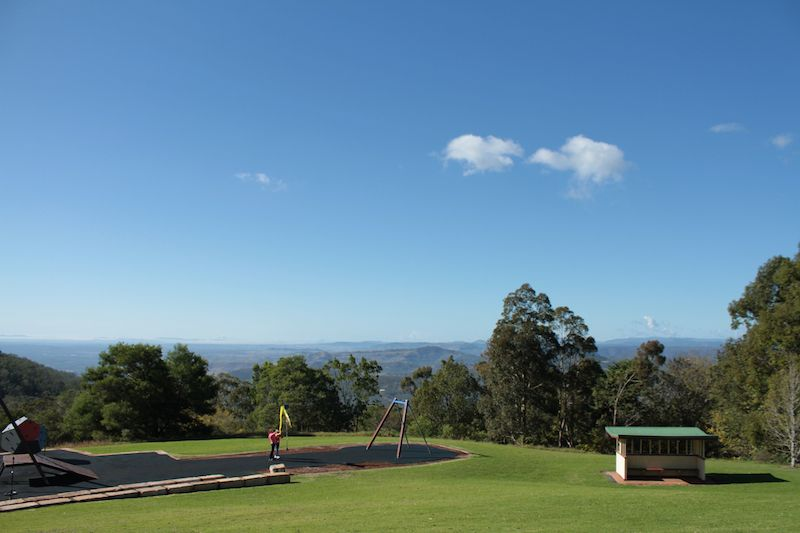View from Webb Park Lookout, Toowoomba, down over the Great Dividing Range