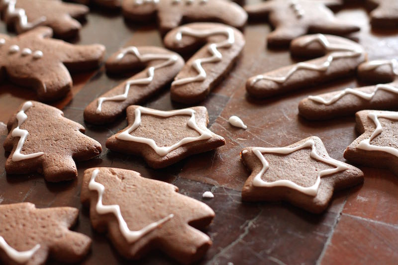 Chocolate and Ginger Christmas Cookies