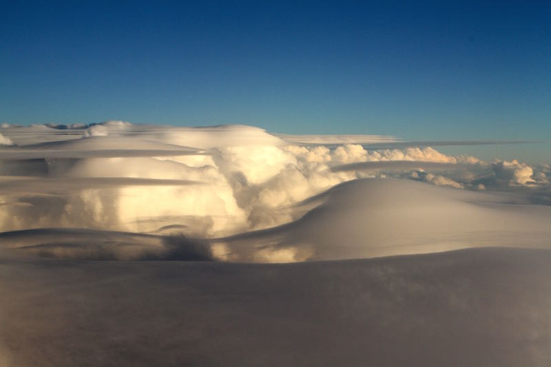 Clouds over New Zealand, May 2014