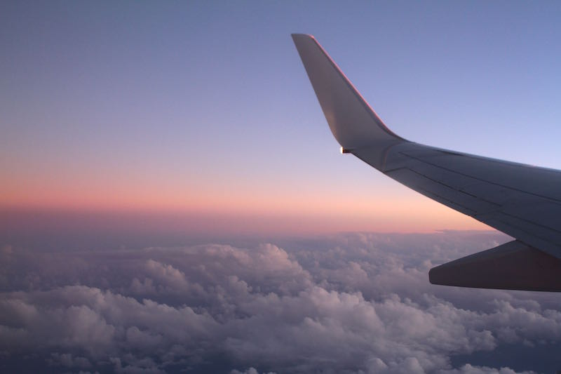 On the homeward stretch, flight back to Brisbane, May 2014