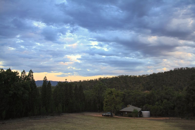 At dusk, Kirimar Cottages, Mudgee NSW