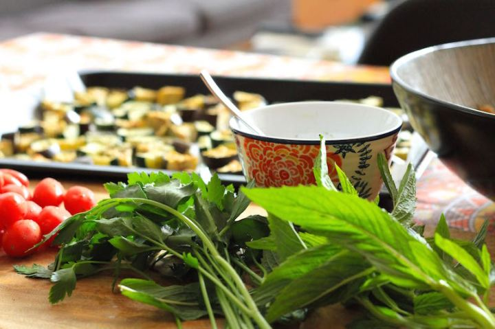 Ingredients for Mediterranean Barley Salad