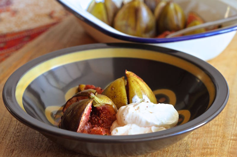 Roasted figs with lemon scented labneh 3