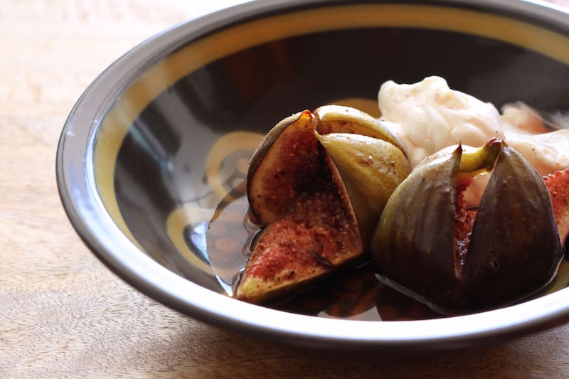 Roasted figs with lemon scented labneh2