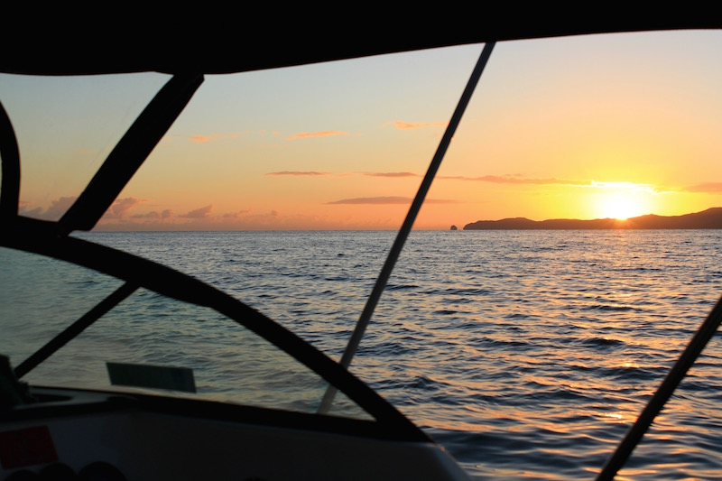 Out fishing at sunrise - Doubtless Bay, Far North, New Zealand