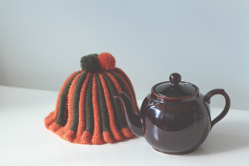 Tea cosy by Mum, pom-pom's by Hunter and teapot by P&K