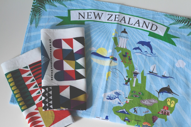 New linen tea towels - Kiwiana and Marimekko