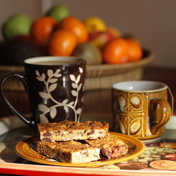 Chocolate and Cardamom Muesli Bars - morning tea snack 2