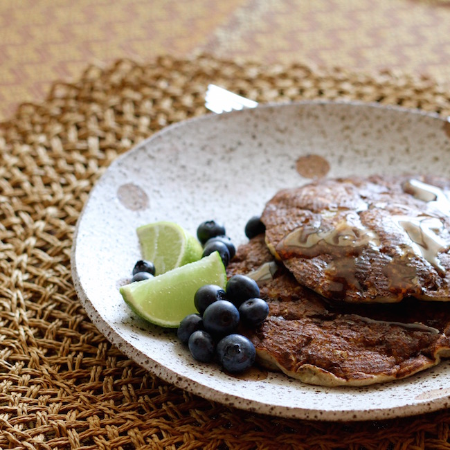 Banana Buckwheat Pancakes with lime and maple syrup 5