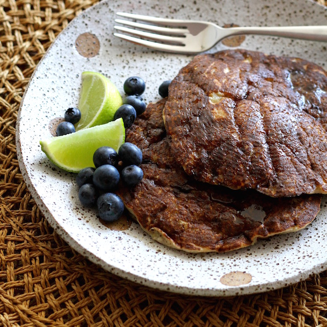 Banana Buckwheat Pancakes with lime and maple syrup 6