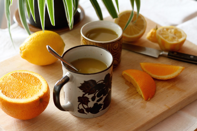 Under the Weather Tea - homemade remedy for colds and flu with turmeric, ginger and barley