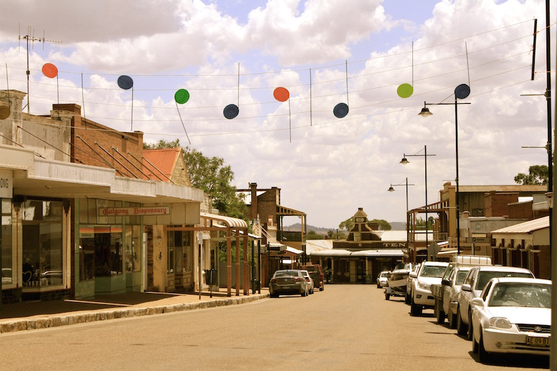Gulgong NSW at Christmas time