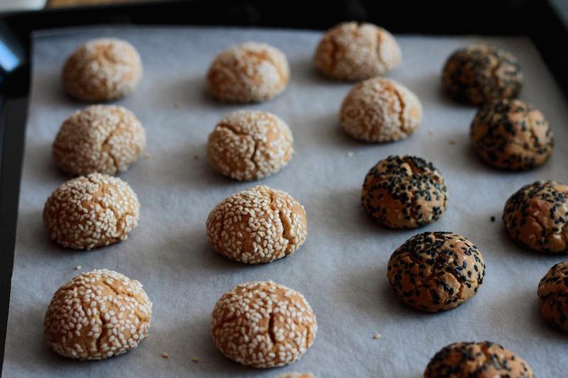 Tahini Cookies freshly baked 2