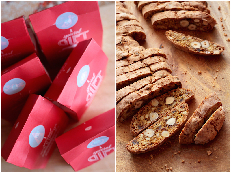 Red sacks and Cantuccini_Fotor_Collage