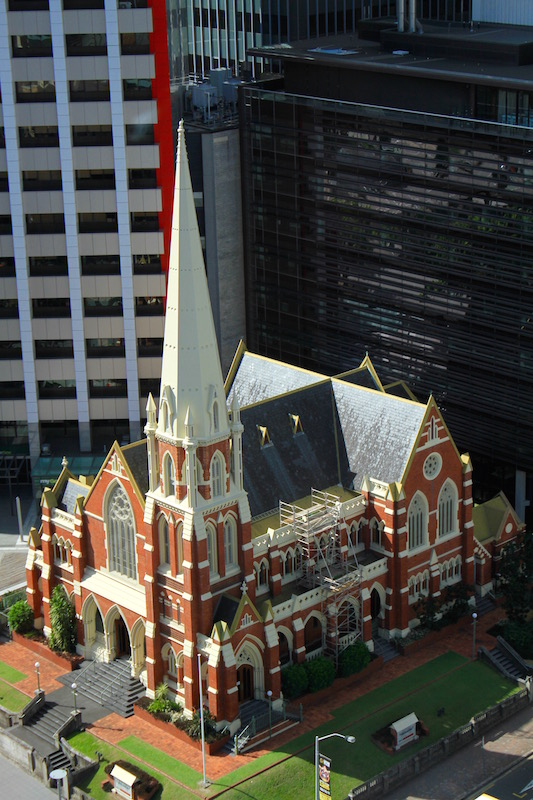 Wesley Mission church in Brisbane CBD