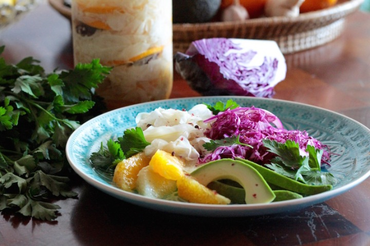 Pickled fennel, avocado and grapefruit - winter detox salad
