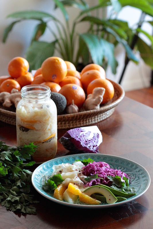 Pickled fennel, grapefruit and avocado - winter detox salad 2