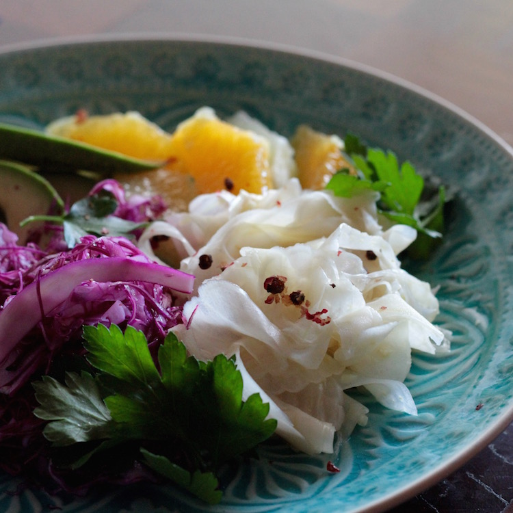 Pickled fennel, grapefruit and avocado - winter detox salad 3