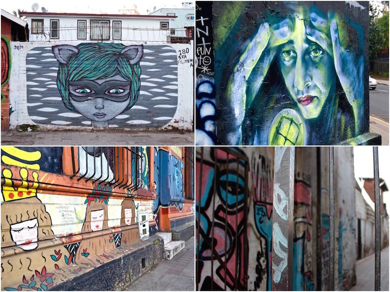 Bellavista street art, Santiago Chile