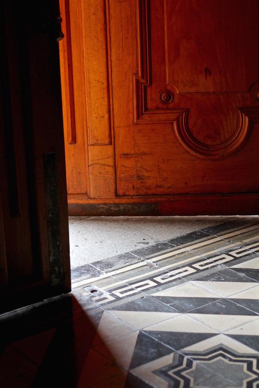 Entrance to Metropolitan Cathedral of Santiago, Chile