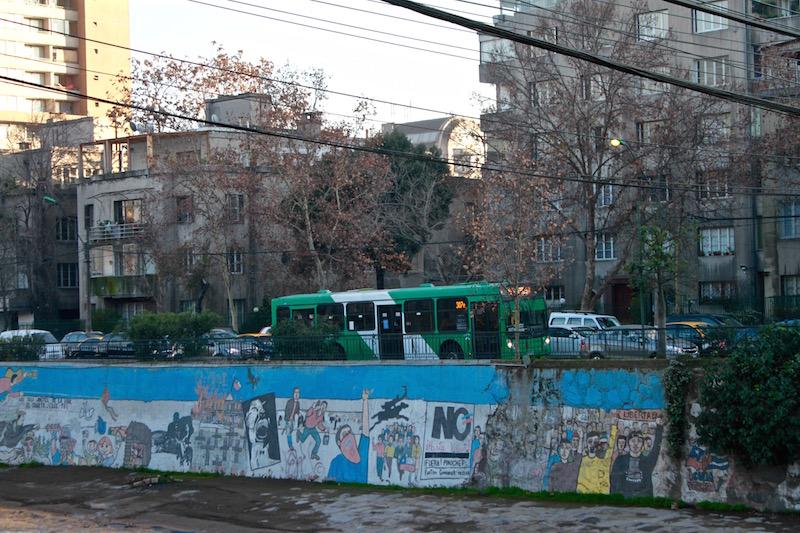 Political mural, Santiago Chile