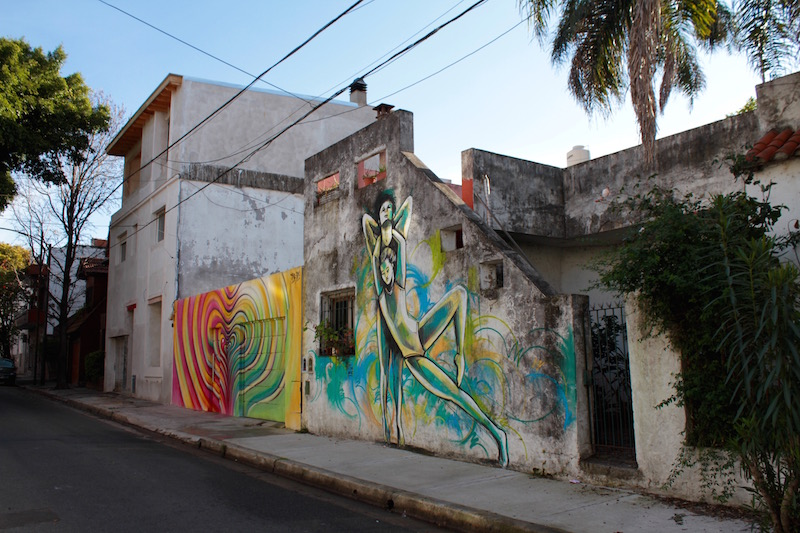 Murals by Alice Pasquini and Alfredo Segatori, Coghlan, Buenos Aires