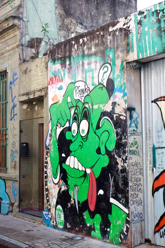 Green monster mural, Palermo Soho, Buenos Aires