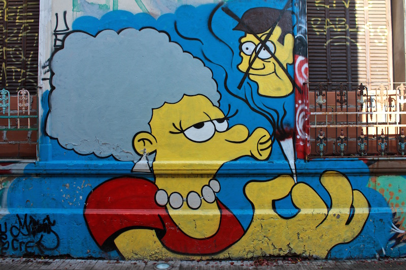 Homer's trashy sister - mural in Palermo Soho, Buenos Aires