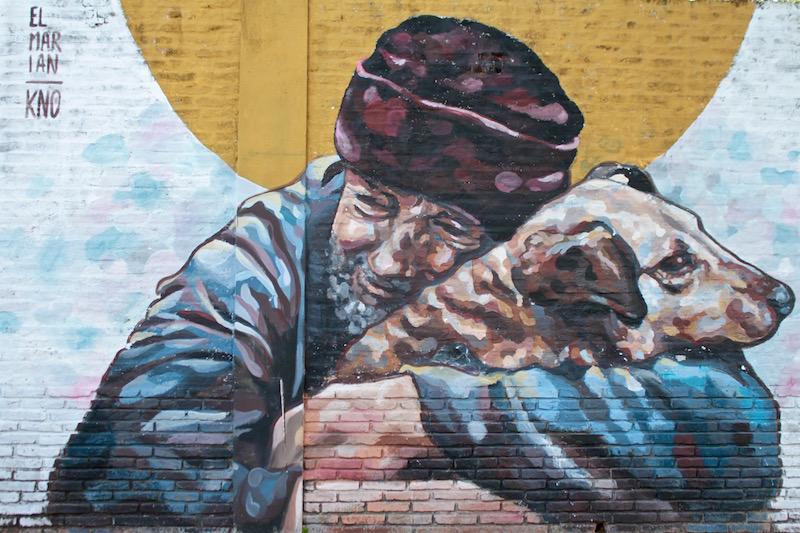 Mural by El Marian, Buenos Aires, Argentina