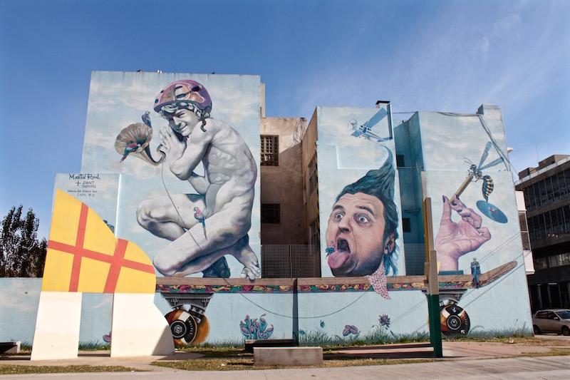 Martin Ron mural in Villa Urquiza, Buenos Aires Argentina