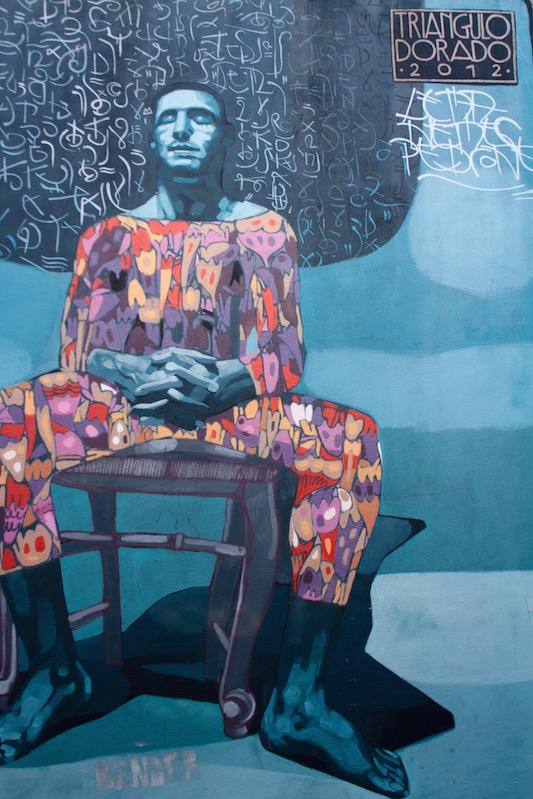 Triangulo Dorada mural in Palermo Soho, Buenos Aires