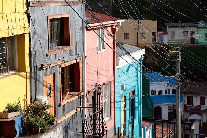 Colourful Valparaiso, Chile, July 2016