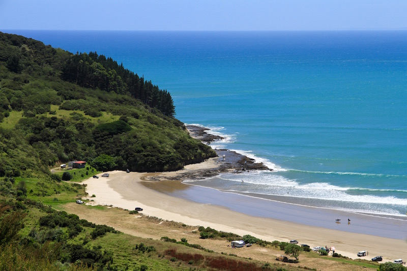 Shipwreck Bay - a popular surfing spot for locals