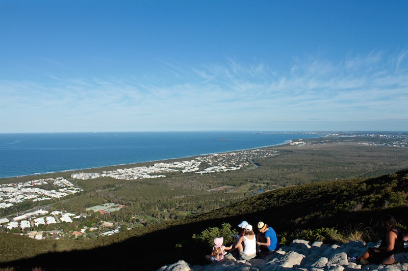 Up Mt Coolum looking towards Mooloolaba, Sunshine Coast Australia