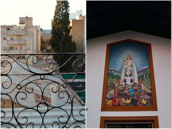 View from balcony and the Virgin of Carrodilla