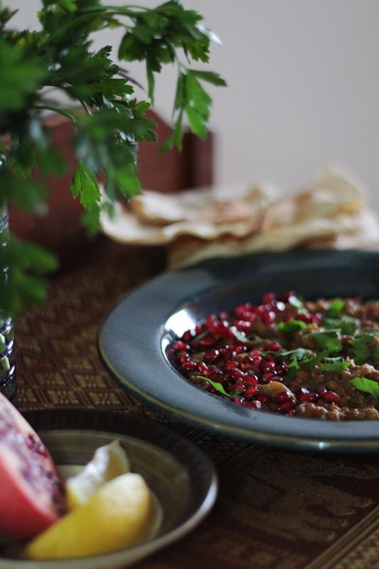 Rummaniyeh - Palestinian Lentil and Eggplant Stew