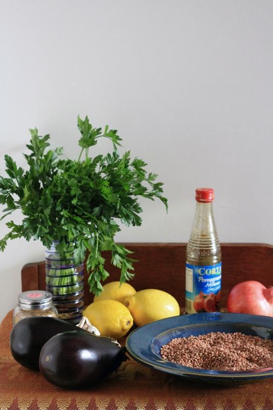Palestinian Lentil and Aubergine Stew