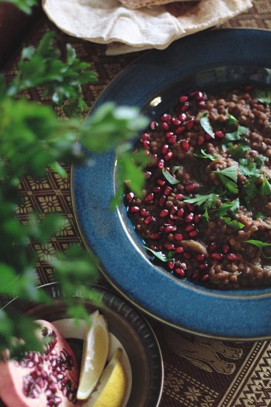 Rummaniyeh - Palestinian Lentil and Aubergine Stew