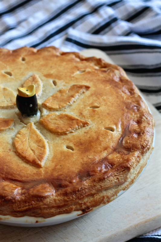 Creamy Chicken and Leek Pie with Homemade Puff Pastry
