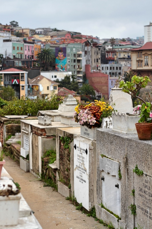 Cemetery on the hill in Valparaiso