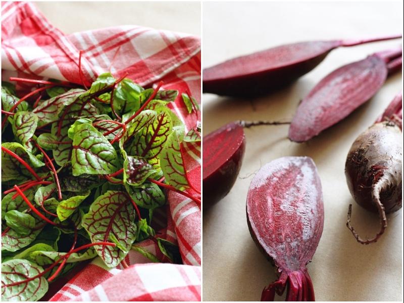 Winter Market Salad - red beetroot and sorrel
