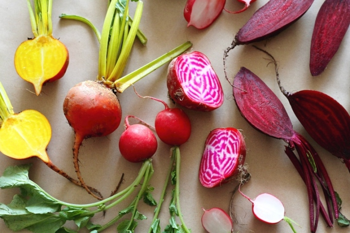 Red, gold and chioggia beetroot
