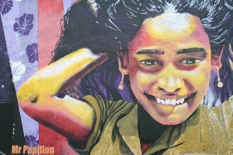 Street art in Valparaiso Chile