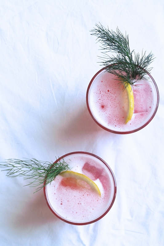 Rhubarb & Fennel Fizz - a fresh and fruity spring cocktail