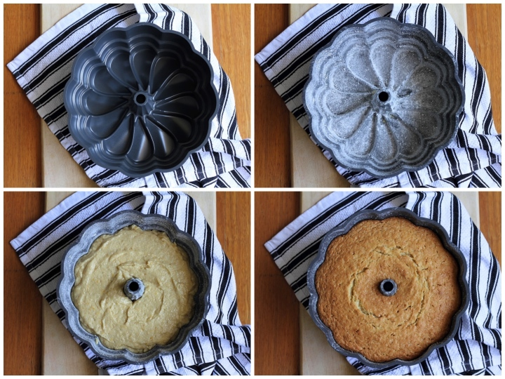 Prepping your bundt tin properly is the key to successful bundt cakes