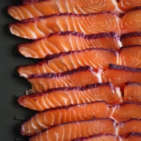 Fancy food | Blackcurrant-Cured Salmon with Herbed Cream Cheese