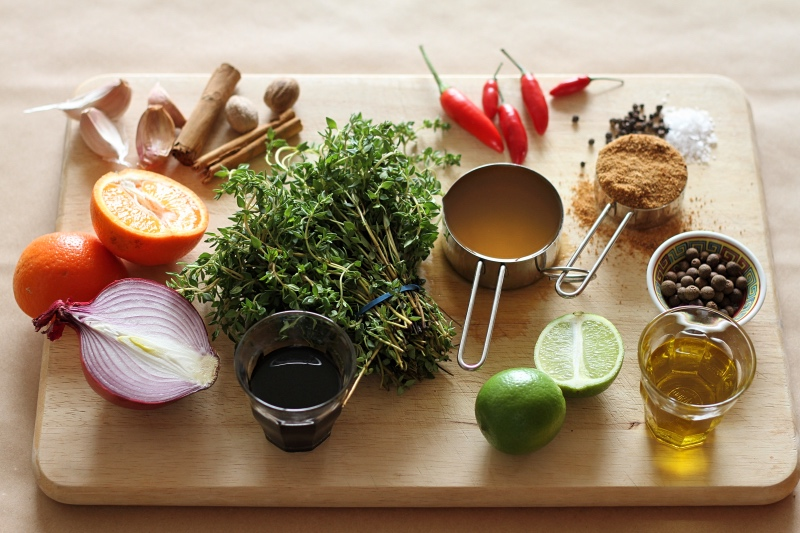 Full ingredients for Jerk Chicken marinade